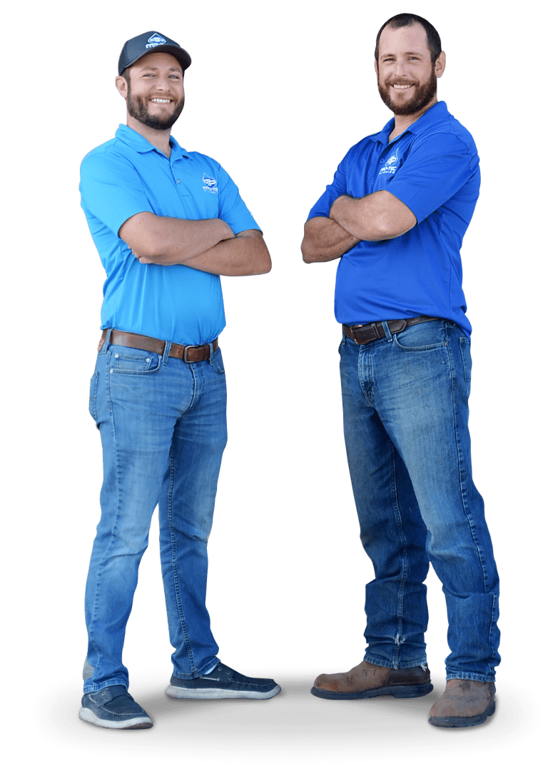 Pro-Tec Plumbing & Drains co-owners and brothers Brandon and Rick Hume.