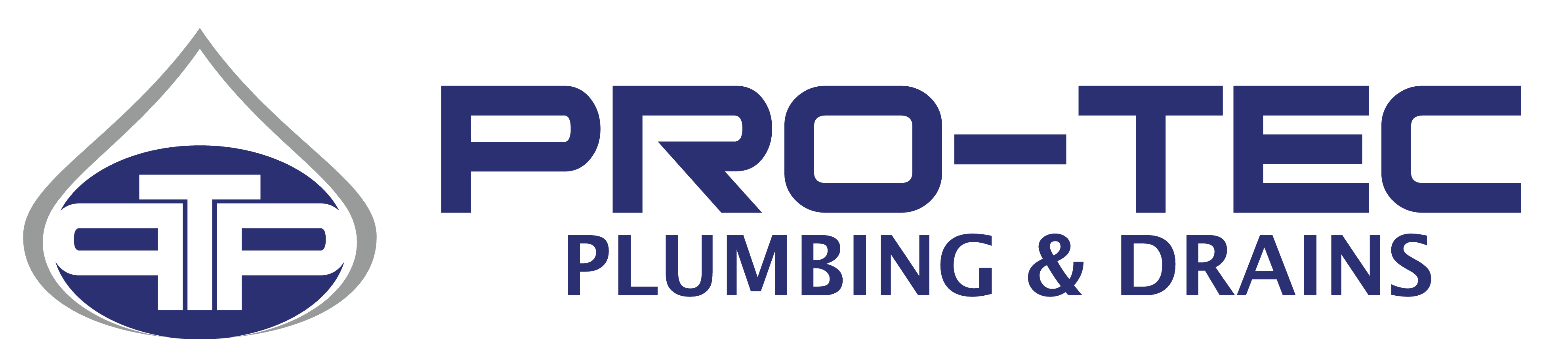 Pro-Tec Plumbing & Drains logo on transparent background for website