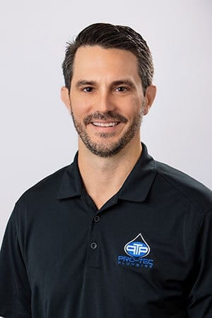 Headshot of Pro-Tec Plumbing employee and chief financial officer Chad K.