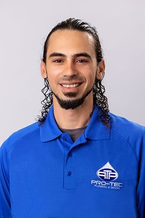 Headshot of Pro-Tec Plumbing employee and construction plumber Chris C.
