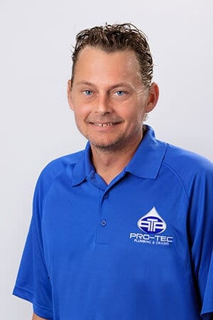 Headshot of Pro-Tec Plumbing employee and construction superintendent Eddie S.