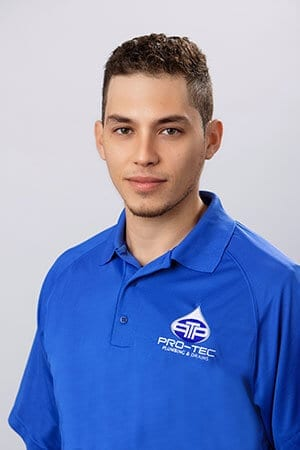 Headshot of Pro-Tec Plumbing employee and construction plumber Jay B.