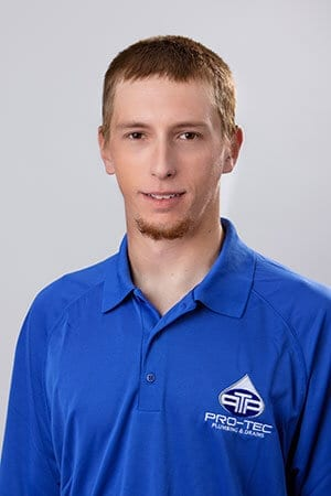 Headshot of Pro-Tec Plumbing employee and construction plumber apprentice Bryan S.