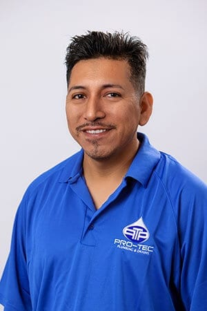 Headshot of Pro-Tec Plumbing employee and construction plumber Santiago O.